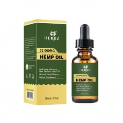 HERBZ Hemp Seed Oil 35000 mg Hemp Oil Organic,  Pain Anxiety - Stress Relief