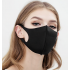 5 PCS -PACK MASK - 3D Fashion Black Mask Washable Reusable elastic Earloop Face Breathing Mask  For Adults