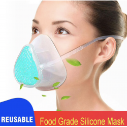 Face Mask KN95 Silicone Food Grade Reusable Breathable Air Filter S8 Self Priming Filter Mask