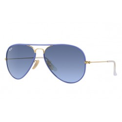 Ray-Ban Aviator  Sunglasses RB3025JM Model 001/4M Blue, Gold Frame With Blue Gradient Lens Sunglasses