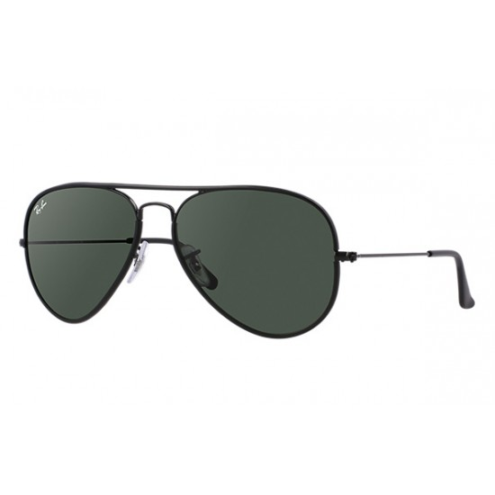 Ray-Ban Aviator  Sunglasses RB3025JM Model 002    Black Frame With  Green Classic G-15 Lens Sunglasses
