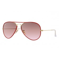Ray-Ban Aviator  Sunglasses RB3025JM Model 001/X3 Red, Gold Frame With   Brown/Pink Gradient Lens Sunglasses