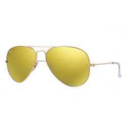 Ray-Ban Aviator  Sunglasses RB3025   Model 112/93  Gold Frame With Yellow  Flash  Lens Sunglasses