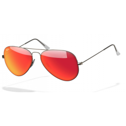 Ray-Ban Aviator  Sunglasses RB3025  Silver Frame With Red Flash Lens Sunglasses