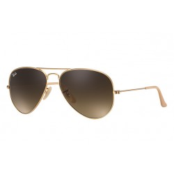 Ray-Ban Aviator  Sunglasses RB3025  Model 112/85 Gold Frame With Brown Gradient  Lens Sunglasses
