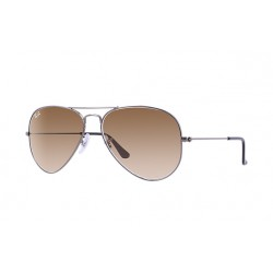Ray-Ban Aviator  Sunglasses RB3025  Gunmetal Frame With Brown Gradient  Lens Sunglasses