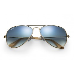 Ray-Ban Aviator  Sunglasses RB3025   Gold  Frame With  Green  Mirror Lens Sunglasses