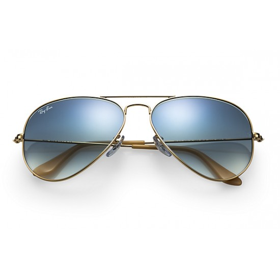 Ray-Ban Aviator  Sunglasses RB3025   Gold Frame With  Light Blue Gradient Lens Sunglasses
