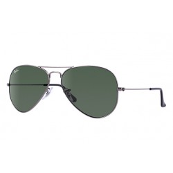 Ray-Ban Aviator  Sunglasses RB3025   Model W0879 Gunmetal Frame With G-15 Green Lens Sunglasses