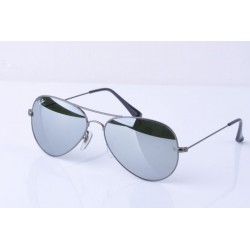 Ray-Ban Aviator  Sunglasses RB3025   Gunmetal  Frame With  Green  Mirror Lens Sunglasses