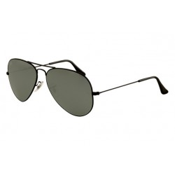 Ray-Ban Aviator  Sunglasses RB3025   Black Frame With  Green  Mirror Lens Sunglasses
