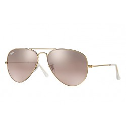 Ray-Ban Aviator  Sunglasses RB3025  Model 001/3E Gold Frame With Silver Pink Mirror Lens Sunglasses