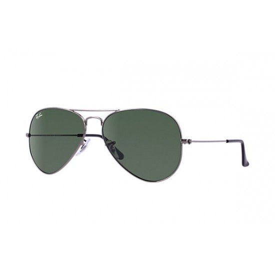 Ray-Ban Aviator  Sunglasses RB3025   Model W3277  Silver Frame With G-15 Green Lens Sunglasses