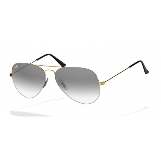 Ray Ban Aviator Sunglasses Rb3025 Gold Frame With Black Gradient Lens Sunglasses