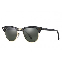 Ray-Ban Clubmaster Sunglasses RB3016  Model 901/58 Black Frame With Polarised Lens