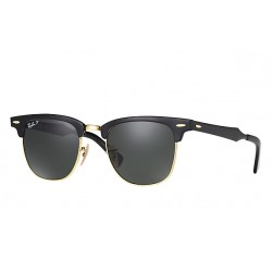 Ray-Ban Clubmaster Aluminium  Sunglasses RB3507  Model 136/N5  Black Frame