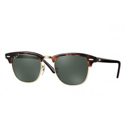 Ray-Ban Clubmaster Sunglasses RB3016  Model 990/58 Tortoise Frame With Polarised Lens
