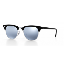 Ray-Ban Clubmaster Sunglasses RB3016   Black Frame - Light Green Mirror Silver  Lens