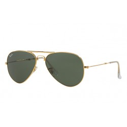 Ray-Ban  Folding Aviator  Sunglasses RB3479   Model 001 Gold Frame With  Green Classic G-15  Lens Sunglasses