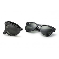 RAY-BAN RB4105  Wayfarer Folding  Model  601 Glossy Black Frame