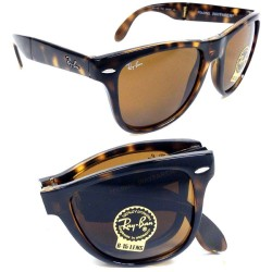 RAY-BAN RB4105  Wayfarer Folding  Model  710/57 Glossy Tortoise  Frame