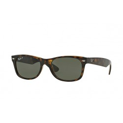 RAY-BAN RB2132 New  Wayfarer Classic  Model 902/58  Tortoise  Frame With Polarised Green Lens