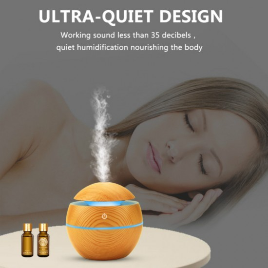 USB Aroma Humidifier Ultrasonic Cool Mist Humidifier Air Purifier 7 Color Change LED Night light Including 6 different Aroma Oils