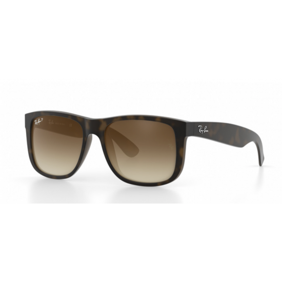 RAY-BAN RB4165 Justin Matte Tortoise Frame - Brown Polarised Lens
