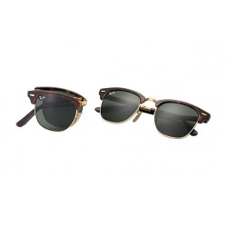 Ray-Ban Clubmaster  Folding Sunglasses RB2176  Model 990  With Tortoise  Frame
