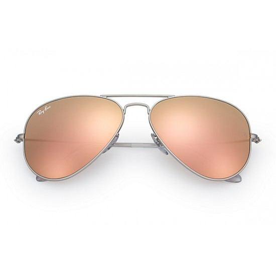 Ray-Ban Aviator  Sunglasses RB3025   Model 019/Z2  Silver Frame With Cooper Flash  Lens Sunglasses