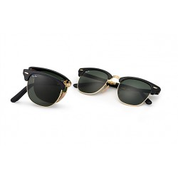 Ray-Ban Clubmaster  Folding Sunglasses RB2176  Model 901 With Black Frame