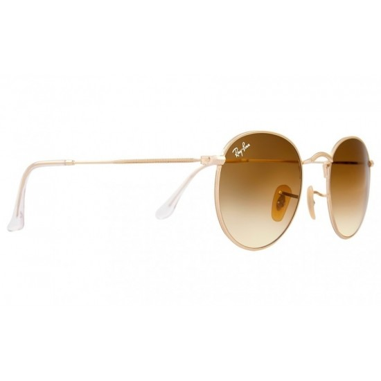 Ray-Ban Round Metal  Sunglasses RB3447   Model 112/51 Gold  Frame With  Brown  Gradient Lens Sunglasses