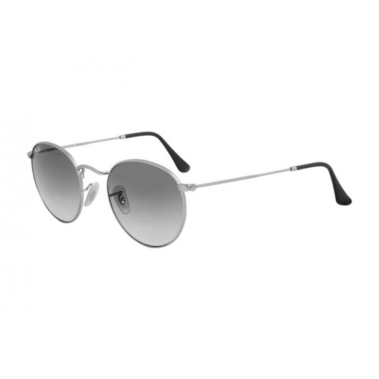 Ray-Ban Round Metal  Sunglasses RB3447   Silver Frame With  Black Gradient Lens Sunglasses