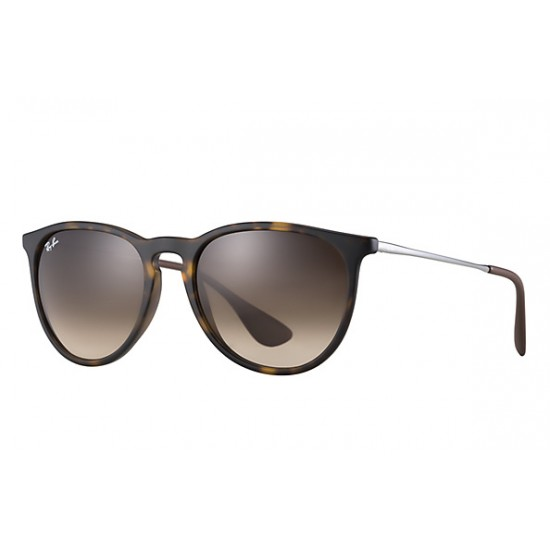 Ray-Ban  Erika  Sunglasses RB4171  Model 865/13  Tortoise/ Gunmetal   Frame With  Brown Gradient  Lens Sunglasses