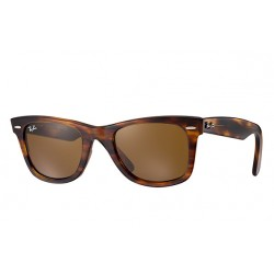 RAY-BAN RB2140 Original Wayfarer Classic 954 Glossy Tortoise Frame With Brown Lens