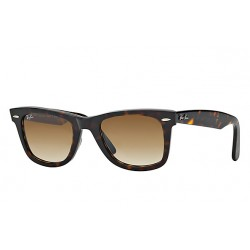 RAY-BAN RB2140 Original Wayfarer Classic 902/51 Glossy Tortoise Frame With Light Brown Lens
